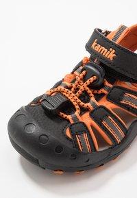 Kamik - CRAB - Walking sandals - black/orange/charcoal - 5