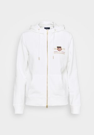 ARCHIVE SHIELD FULL ZIP HOODIE - Zip-up hoodie - eggshell