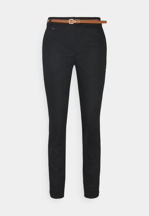 BELTED CIGARETTE - Pantaloni - black