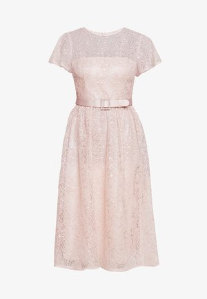 DOT SEQUINSHORT DRESS - Vestido de cóctel - light blush