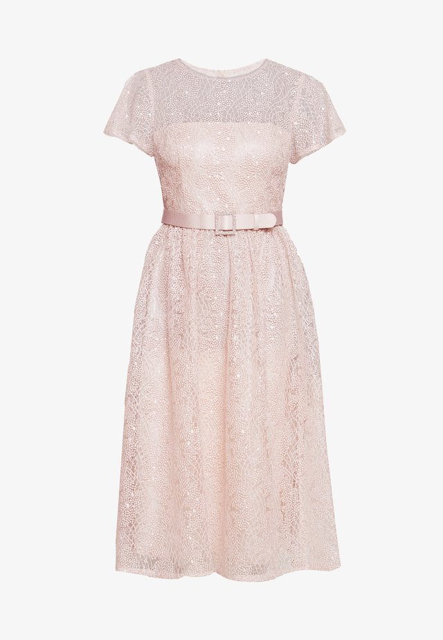 DOT SEQUINSHORT DRESS - Vestito elegante - light blush