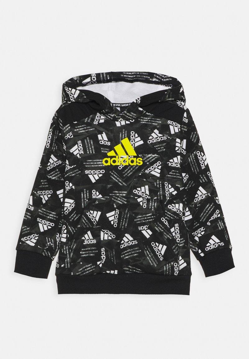 adidas Performance - Hoodie - black/yellow