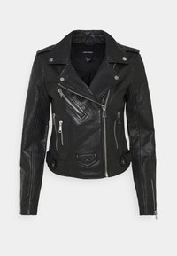VMNYNNE SHORT - Leather jacket - black