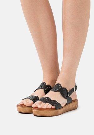 NICOLETA - Platform sandals - black