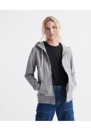 ORGANIC COTTON STANDARD LABEL ZIP HOODIE - Sweatjakke /Træningstrøjer - grey