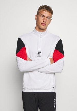 REBEL HALF ZIP - Mikina - white