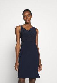 Lauren Ralph Lauren - BONDED DRESS TRIM - Cocktail dress / Party dress - lighthouse navy - 0