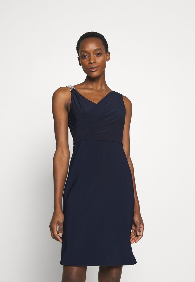 BONDED DRESS TRIM - Cocktail dress / Party dress - lighthouse navy