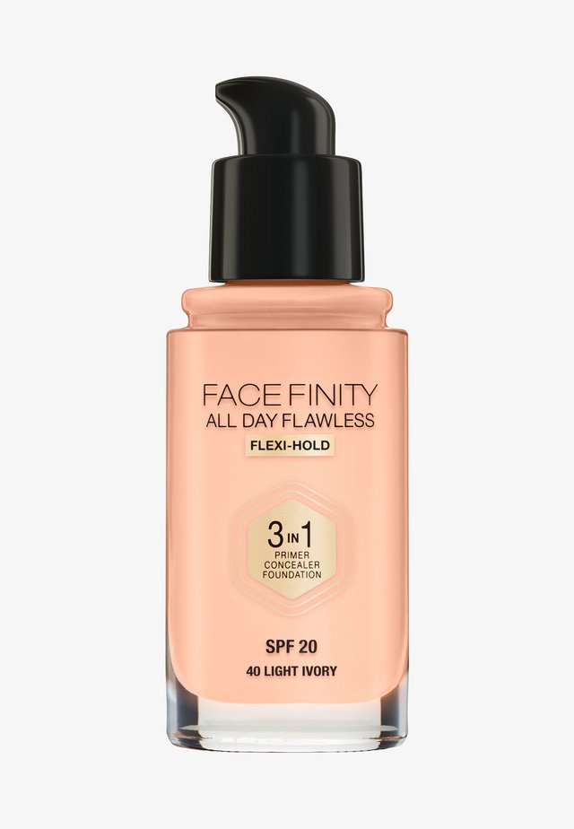 ALL DAY FLAWLESS 3 IN 1 FOUNDATION - Fond de teint - 40 light ivory