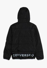 Converse - WORDMARK QUILTED JACKET - Chaqueta de invierno - black - 1
