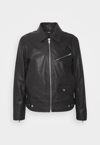 The Kooples - BIKER JACKET - Kurtka skórzana - black - 4