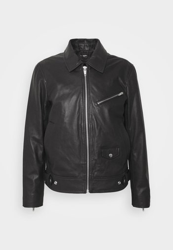 BIKER JACKET - Leren jas - black