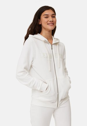 KIMBERLY - Zip-up sweatshirt - offwhite