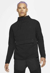 Nike Sportswear - M NSW TCH FLC LS FNL - Sweatshirt - black/black - 3