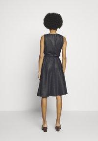 Lauren Ralph Lauren - WOODSTCK FOIL DRESS - Day dress - navy/silver - 2