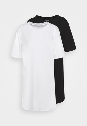 2 PACK - Robe en jersey - white/black