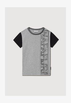 SAOBAB - T-shirt print - medium grey melange