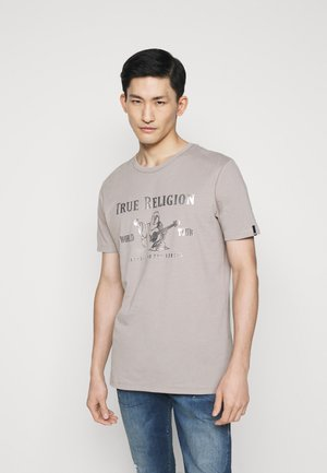 CORE LOGO TEE - Print T-shirt - grey