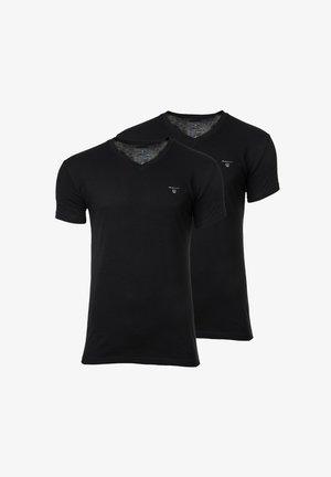 2 PACK  - Basic T-shirt - schwarz/schwarz