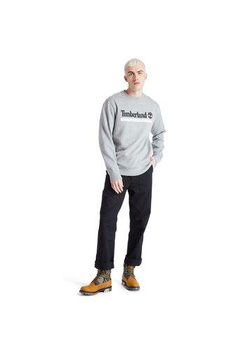 ESTABLISHED 1973 CREW - Sweatshirts - medium grey heather-white