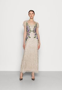 Adrianna Papell - BEADED LONG GOWN - Occasion wear - biscotti - 0