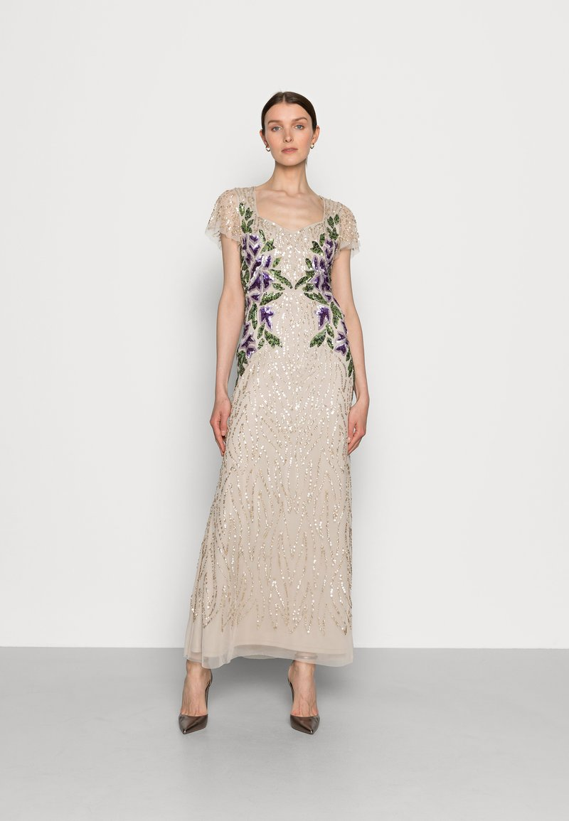 Adrianna Papell - BEADED LONG GOWN - Occasion wear - biscotti