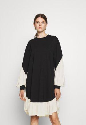 ABITO IN PUNTO MILANO TRIPLA - Jersey dress - nero/neve