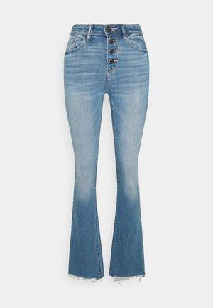 HI RISE KICK  - Flared jeans - eyelet blue