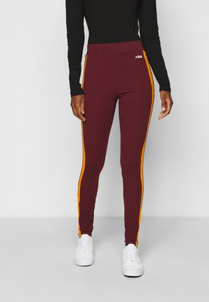 TASYA - Leggings - Trousers - tawny port/orange popsicle