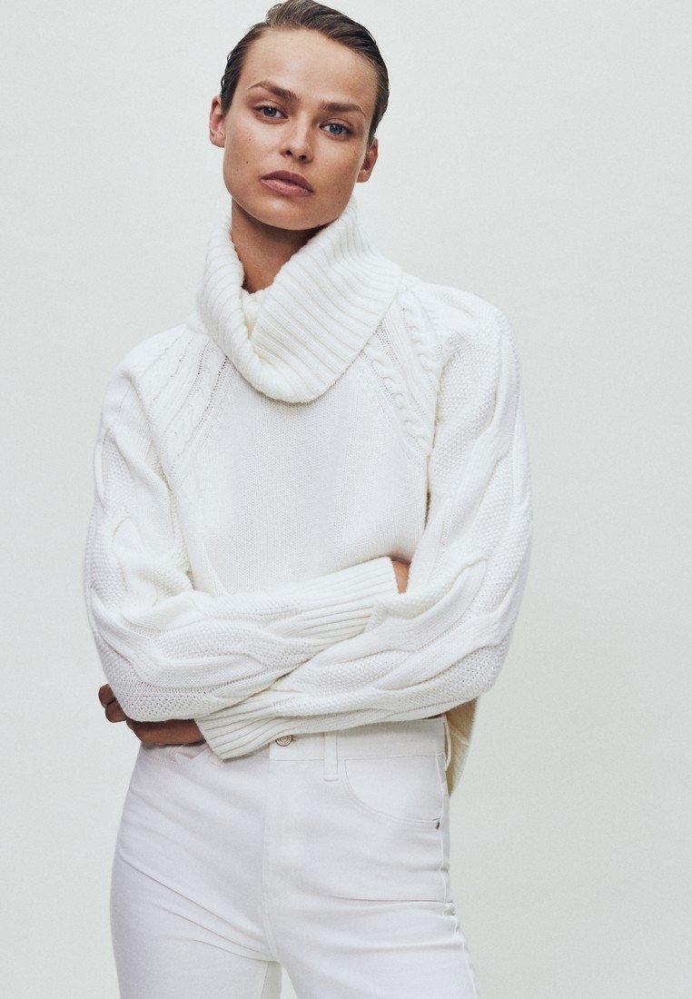 Witte Massimo Dutti Cashmere trui online kopen | ZALANDO
