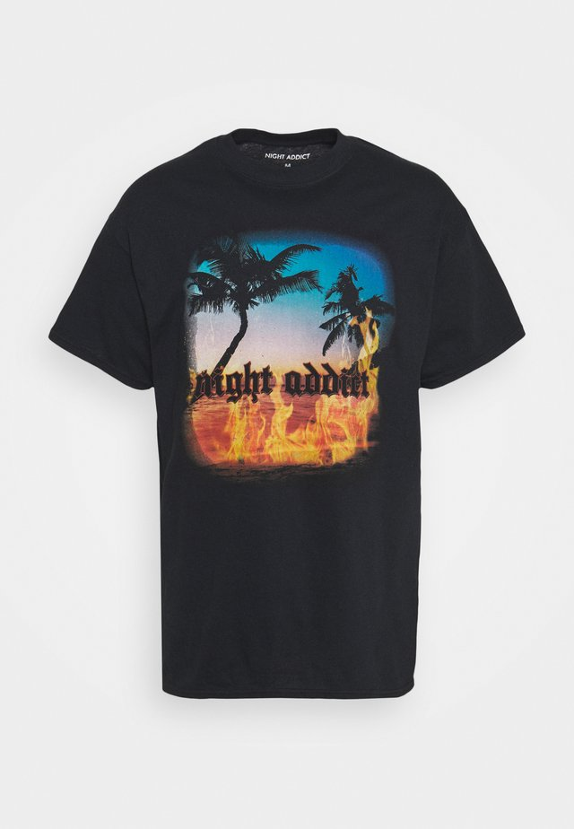 SUNSET - T-shirt con stampa - black