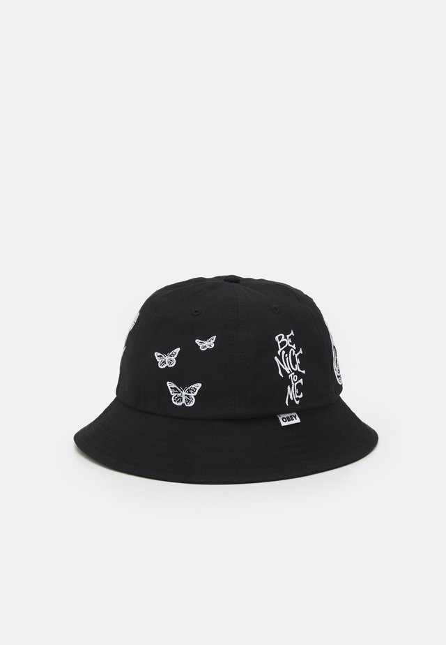 PANEL BUCKET HAT UNISEX - Hatt - black