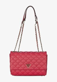 Guess - CESSILY CONVERTIBLE XBODY FLAP - Across body bag - red - 0