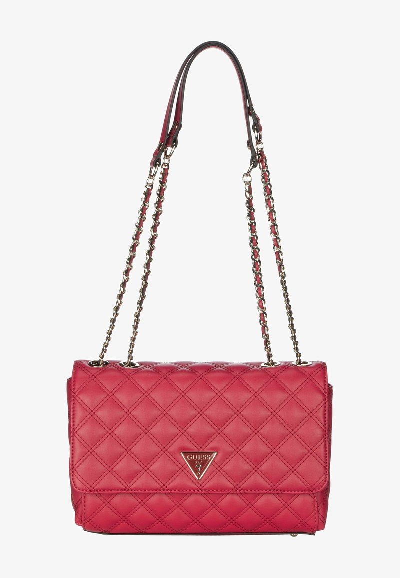Guess - CESSILY CONVERTIBLE XBODY FLAP - Across body bag - red