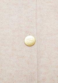 Davida Cashmere - PONCHO WITH BUTTONS - Mantella - light beige - 2