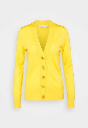 SIMONE CARDIGAN - Kardigan - golden chartreuse