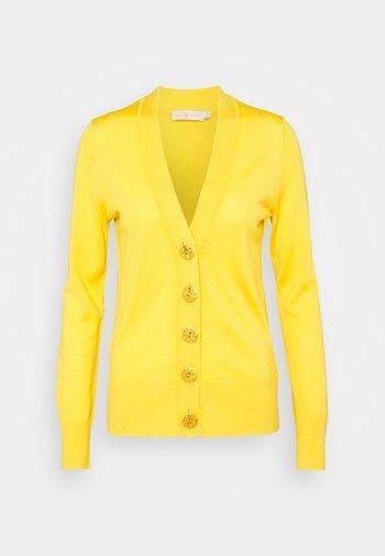 SIMONE CARDIGAN - Neuletakki - golden chartreuse