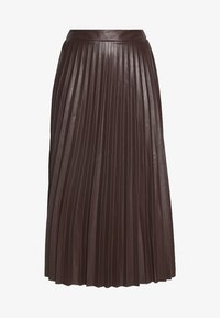 PLEATED MIDI - A-line skirt - dark burgundy