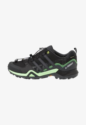 TERREX SWIFT R2 GORE-TEX - Hiking shoes - core black/dough solid grey/signal green