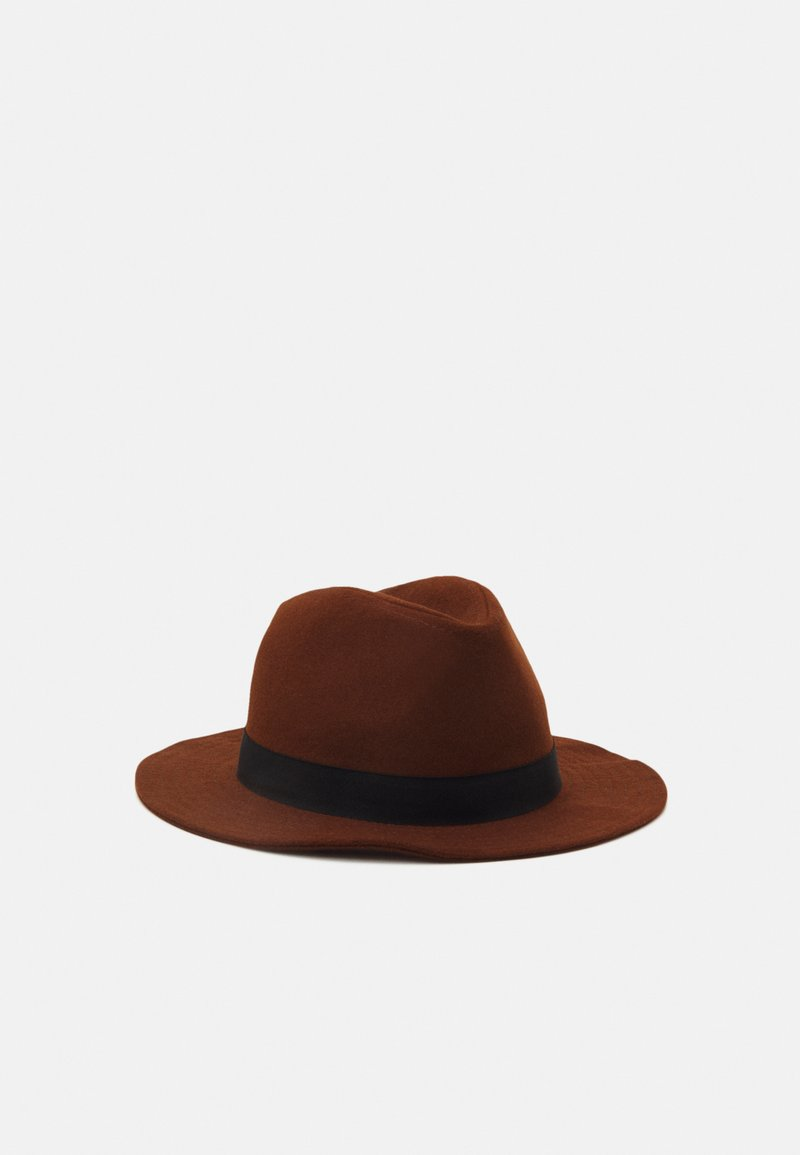 Only & Sons - ONSCARLO FEDORA HAT - Hat - brown stone