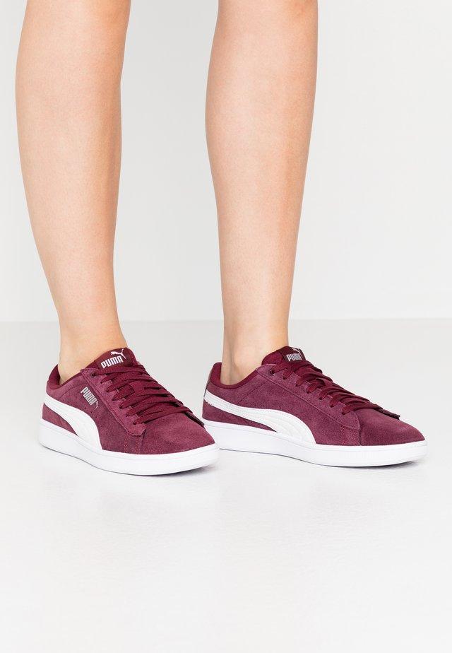 VIKKY - Sneakersy niskie - burgundy/white/silver