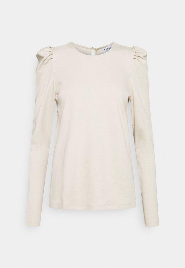 VMNOREEN O NECK BLOUSE - Camiseta de manga larga - oatmeal