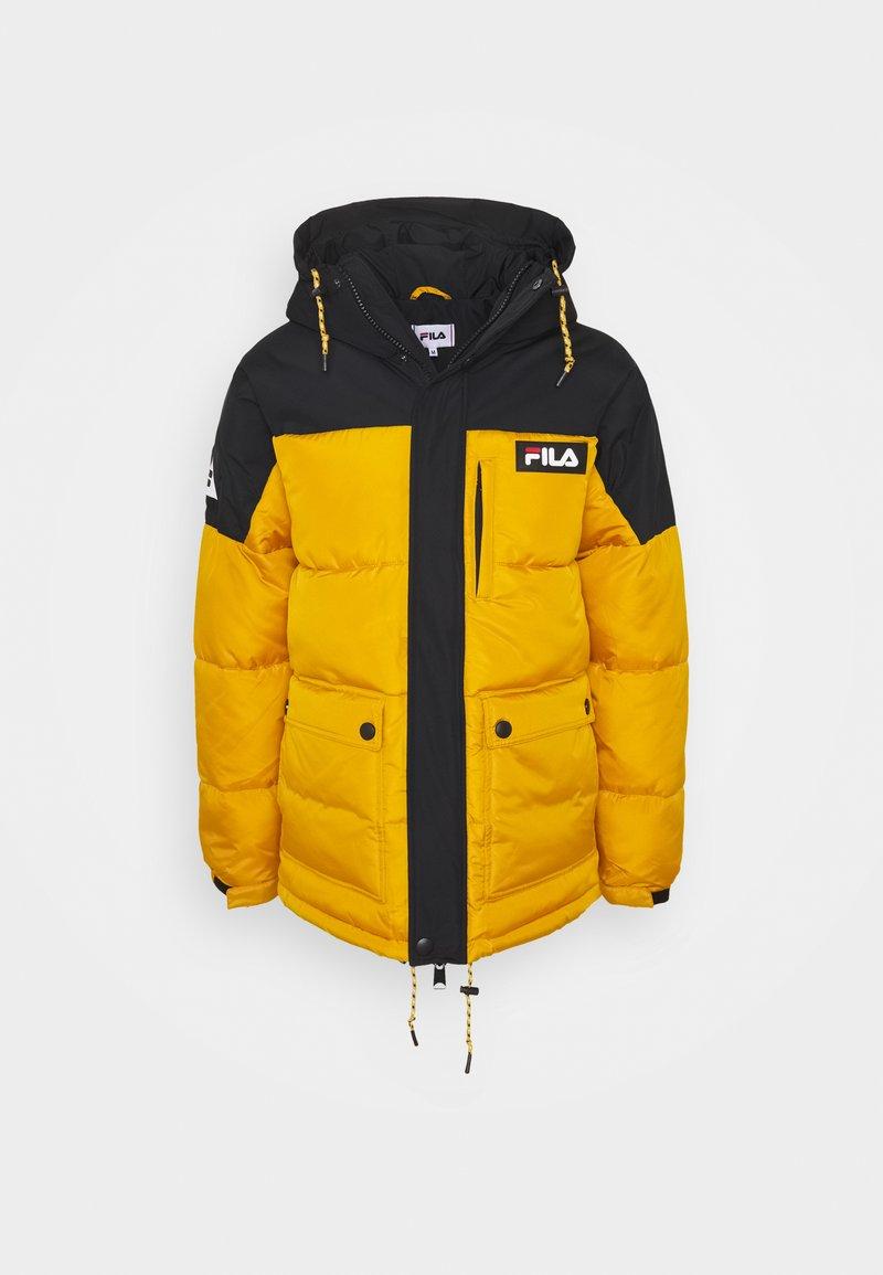 Fila - ESCURCIONE PUFFED JACKET - Winter jacket - nugget gold/black