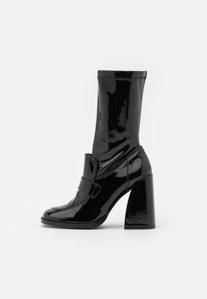 VEGAN  - High heeled boots - black