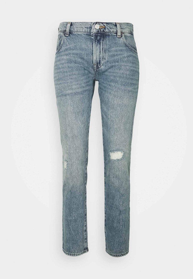 Emporio Armani - POCKETS PANT - Straight leg jeans - denim blu