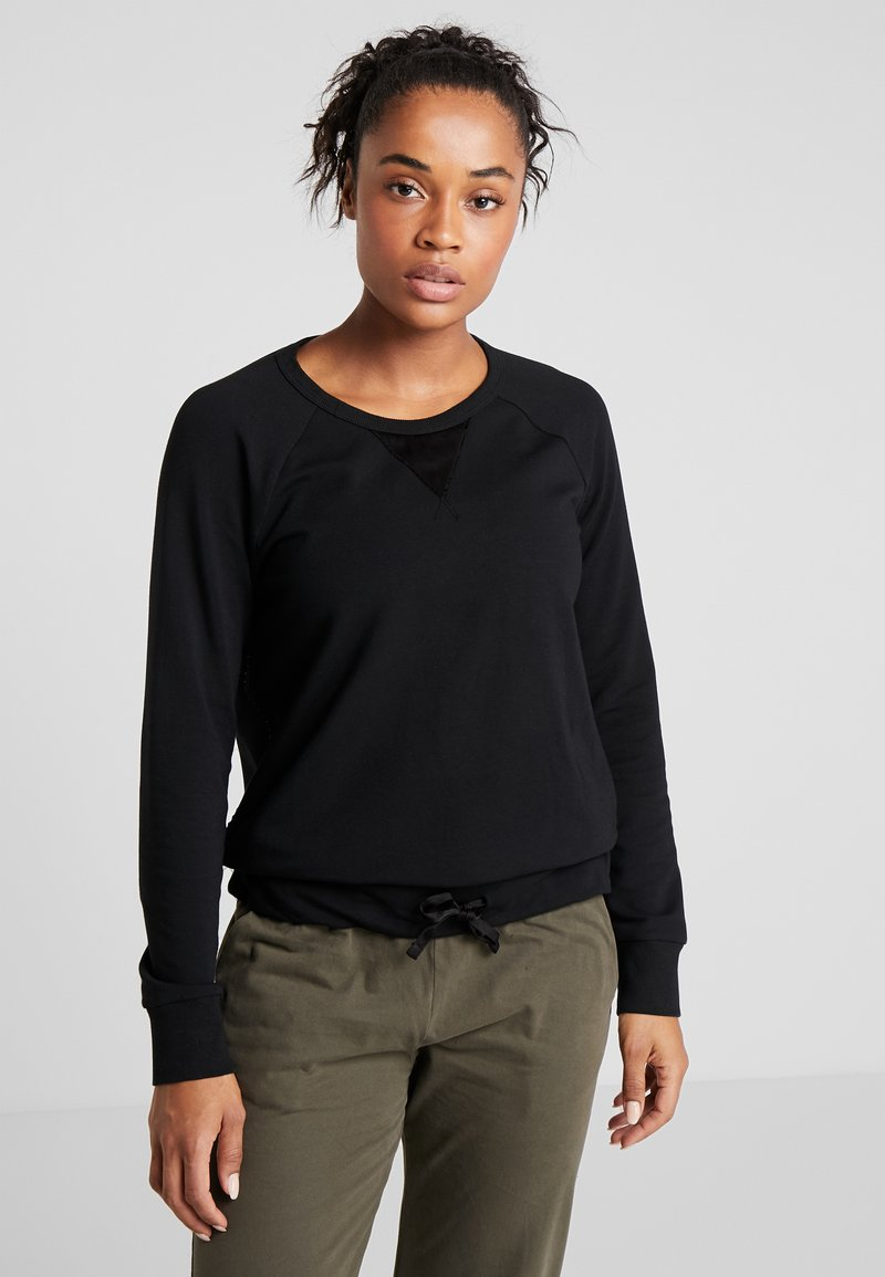 Deha - FELPA GIROCOLLO - Sweatshirts - black