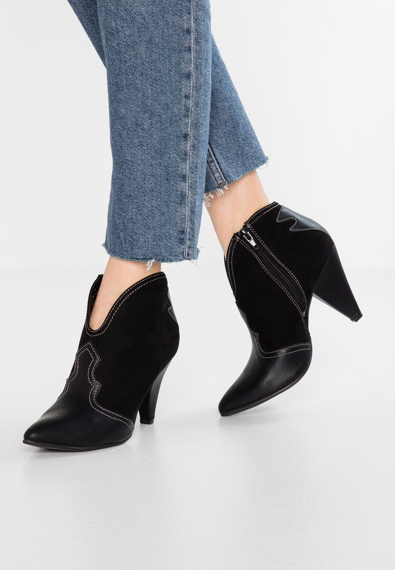 New Look - ELSA - High heeled ankle boots - black
