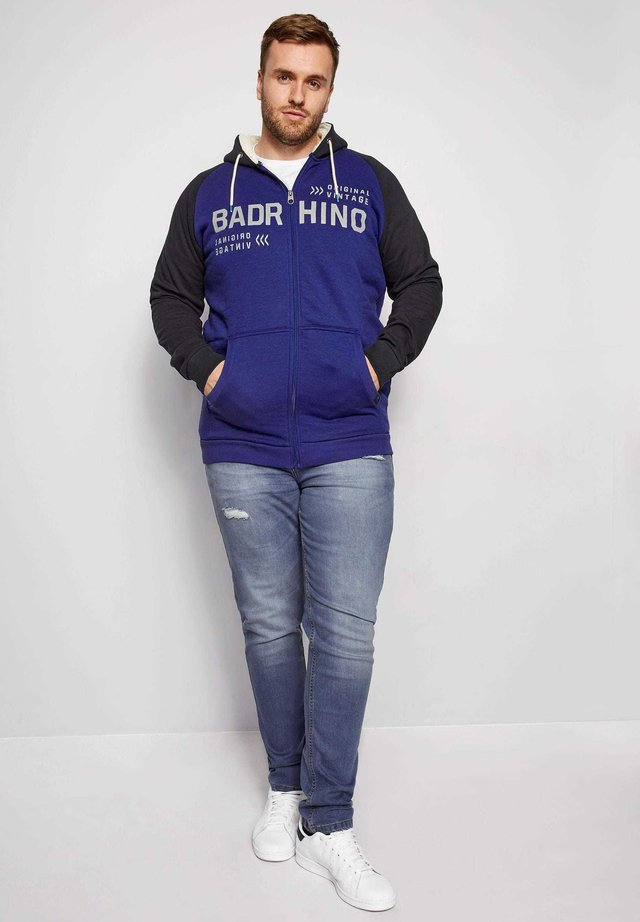BIG AND TALL  - Zip-up hoodie - blue