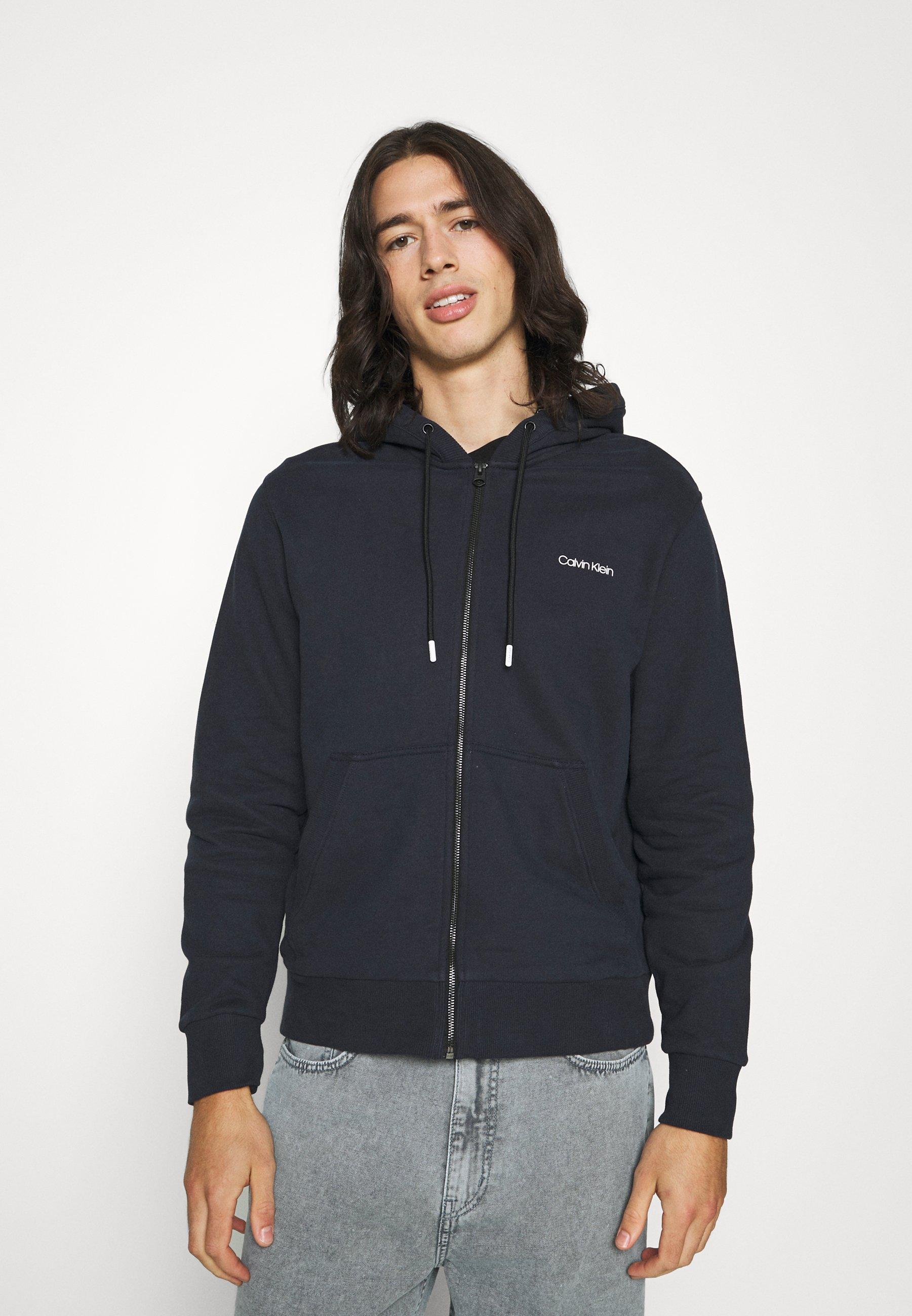 Men SMALL CHEST LOGO ZIP THRU - Zip-up sweatshirt