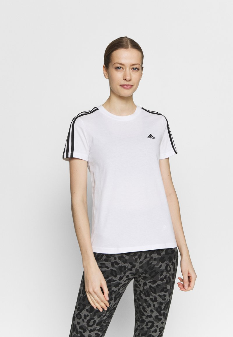 adidas Performance - T-shirt med print - white/black